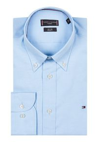 Tommy Hilfiger Tailored Koszula Oxford MW0MW16484 Niebieski Regular Fit. Kolor: niebieski