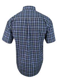 ForMax - Koszula Bawełniana z Krótkim Rękawem, z Kieszonkami, Niebiesko-Granatwowa w Kratkę, Slim -FORMAX. Okazja: na co dzień. Kolor: niebieski. Materiał: bawełna. Długość rękawa: krótki rękaw. Długość: krótkie. Wzór: kratka. Styl: casual