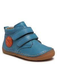 Froddo - Trzewiki FRODDO - G2130222 S Jeans. Kolor: niebieski. Materiał: skóra. Sezon: zima, jesień