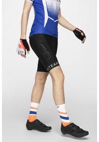 4f - Spodenki rowerowe damskie RSD153 - głęboka czerń. Kolor: czarny. Materiał: materiał
