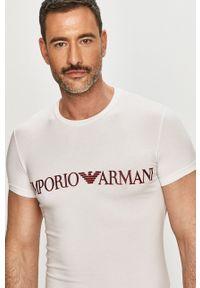 Emporio Armani Underwear - Emporio Armani - T-shirt. Okazja: na co dzień. Kolor: biały. Wzór: nadruk. Styl: casual