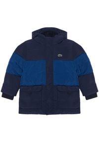 Lacoste Kurtka puchowa BJ1298 Granatowy Regular Fit. Kolor: niebieski. Materiał: puch