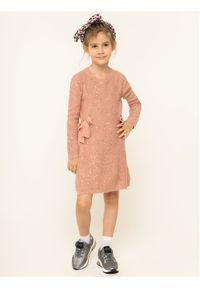 Różowa sukienka Liu Jo Kids casualowa, na co dzień, prosta