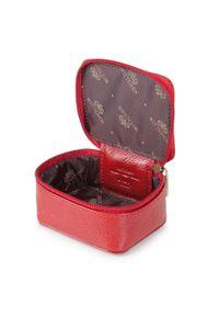 Wittchen - Kosmetyczka skórzana pudełkowa. Kolor: czerwony. Materiał: skóra