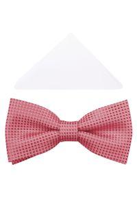 Różowa muszka elegancka