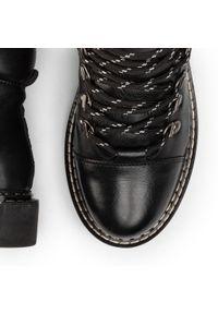 Czarne buty trekkingowe MEXX z cholewką przed kolano, z cholewką