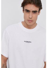 G-Star RAW - G-Star Raw - T-shirt. Okazja: na co dzień. Kolor: biały. Materiał: bawełna, dzianina. Wzór: gładki. Styl: casual