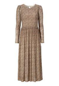 Długa sukienka Freequent z długim rękawem