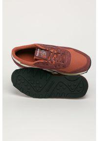 Brązowe buty sportowe Reebok Classic z cholewką, na sznurówki