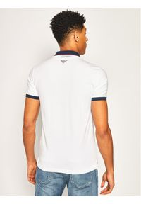 Biała koszulka polo EA7 Emporio Armani polo