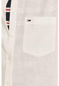 Biała koszula Tommy Jeans gładkie, z długim rękawem