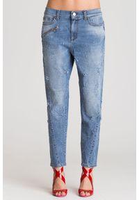 Jeansy Versace Jeans klasyczne, z podwyższonym stanem