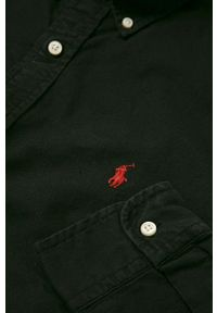 Czarna koszula Polo Ralph Lauren na co dzień, casualowa, polo
