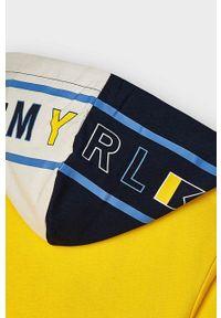 Żółta bluza rozpinana Mayoral gładkie, z kapturem, casualowa, na co dzień