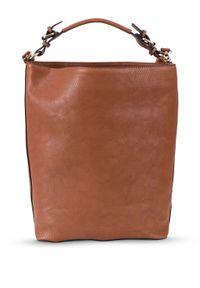 Torba shopper bonprix koniakowy. Kolor: brązowy. Styl: elegancki