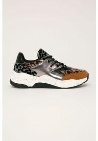 Buty sportowe Bullboxer na sznurówki, na średnim obcasie, z cholewką, na obcasie