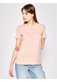 Superdry T-Shirt Outline Entry Tee W1010057A Różowy Slim Fit. Kolor: różowy