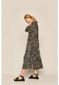medicine - Medicine - Sukienka Boho Breeze. Okazja: na co dzień. Kolor: czarny. Typ sukienki: proste. Styl: boho