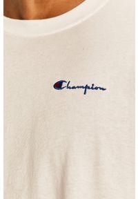 Champion - T-shirt. Okazja: na co dzień. Kolor: biały. Materiał: dzianina. Styl: casual