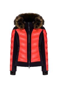 Pomarańczowa kurtka narciarska Descente