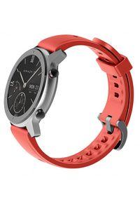 Czerwony zegarek Huami smartwatch, sportowy