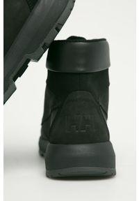 Czarne buty trekkingowe Helly Hansen na sznurówki, z cholewką
