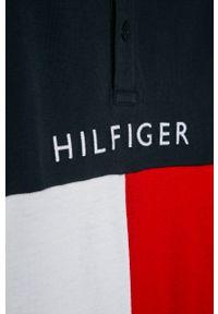 Niebieski t-shirt polo TOMMY HILFIGER polo, casualowy