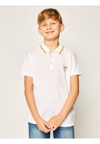 Biały t-shirt polo Guess polo