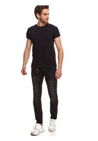 Czarny t-shirt TOP SECRET z nadrukiem, krótki #6