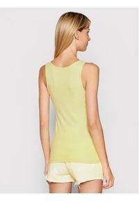 Pepe Jeans Top Dunia PL504853 Żółty Regular Fit. Kolor: żółty