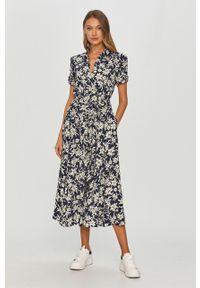 Wielokolorowa sukienka Polo Ralph Lauren z krótkim rękawem, na co dzień, polo