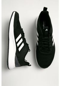 Czarne buty sportowe Adidas Adidas Cloudfoam, z cholewką, na sznurówki