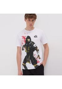 Sinsay - Koszulka Mortal Kombat - Biały. Kolor: biały