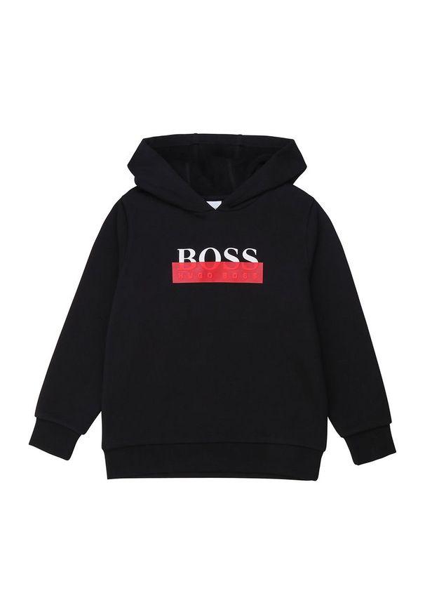 Czarna bluza BOSS casualowa, na co dzień
