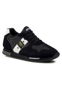 Blauer - Sneakersy BLAUER - F0DASH02/NYL S Black. Okazja: na uczelnię, na spacer. Kolor: czarny. Materiał: skóra, skóra ekologiczna, materiał. Szerokość cholewki: normalna