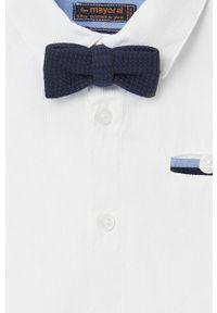 Biała koszula Mayoral długa, z długim rękawem, casualowa