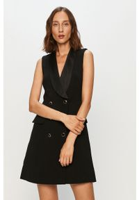 Czarna sukienka Morgan rozkloszowana, biznesowa
