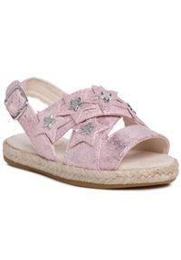 Różowe sandały Ugg z aplikacjami, na lato