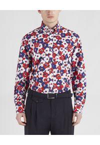 PAUL & SHARK - Bawełniana koszula z nadrukiem. Kolor: czerwony. Materiał: bawełna. Długość rękawa: długi rękaw. Długość: długie. Wzór: nadruk. Styl: wakacyjny