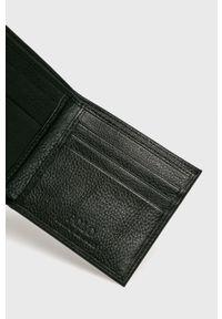 Polo Ralph Lauren - Portfel skórzany. Kolor: czarny. Materiał: skóra. Wzór: gładki