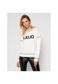 Biały sweter Liu Jo Sport sportowy