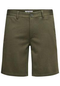 Only & Sons - ONLY & SONS Szorty materiałowe Mark 22018667 Zielony Regular Fit. Kolor: zielony. Materiał: materiał