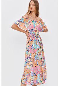 Wielokolorowa sukienka Answear Lab wakacyjna, na co dzień, midi