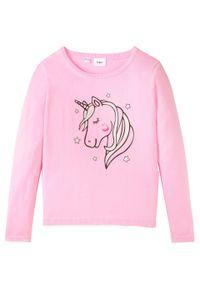 Różowy sweter bonprix długi, z długim rękawem