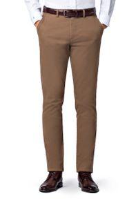 Beżowe spodnie Lancerto w kolorowe wzory, na co dzień, sportowe