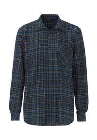 Cellbes Kraciasta koszula flanelowa z prostym krojem w kratkę male ze wzorem 4XL. Długość rękawa: długi rękaw. Długość: długie. Wzór: kratka
