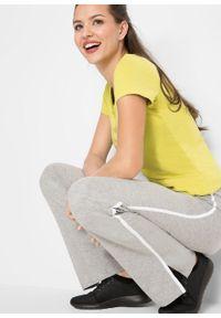 Spodnie shirtowe ze stretchem (2 pary), długie, Level 1 bonprix ciemnoniebieski + jasnoszary melanż. Kolor: niebieski. Długość: długie. Wzór: melanż
