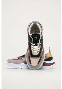 Wielokolorowe buty sportowe D.A.T.E. z cholewką, z okrągłym noskiem