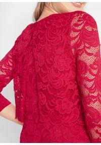 Czerwona bluzka bonprix moda ciążowa, elegancka
