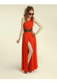 Madnezz - Sukienka Erin Wild 2.0 - chilli. Materiał: wiskoza, elastan. Typ sukienki: asymetryczne